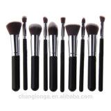 Diversos produtos cosméticos de alta qualidade da escova 10PCS/Definir Makeup Ajuste da Escova 9cores pega de madeira