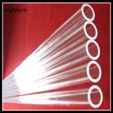 Tubo de cristal claro de cuarzo con el surtidor inferior redondo