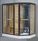 熱いシャワー(AT-D8877)との販売の長方形の蒸気によって結合されるサウナ