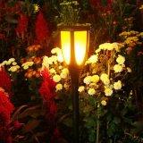 Indicatore luminoso alimentato solare della torcia di effetto LED della fiamma