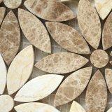 贅沢なホーム装飾の良質の花の石の大理石のモザイク・タイル