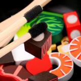 Fry Stir кухни детей деревянный отрезая игрушки игры игры установленные воспитательные для младенца малышей