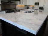 La pierre artificielle de qualité couvre le prix blanc de quartz de Carrare