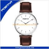 Het eenvoudige Uiterst dunne Unisex-Horloge van het Kwarts van het Roestvrij staal van de Stijl Dw