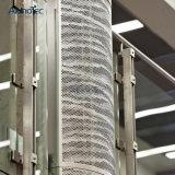 Plafond suspendu en aluminium de panneau perforé en métal de certificat d'OIN