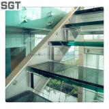 El flotador claro endureció las escaleras laminadas PVB de la escalera Sgp/de cristal