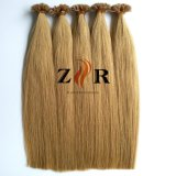高品質の二重引かれたインドのバージンのRemyの平らな先端の前に担保付きの人間の毛髪の拡張