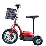 Ruedas plegables de la venta al por mayor del fabricante del OEM 3 plegables la vespa eléctrica de la movilidad para el adulto con el asiento