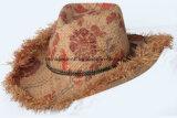 Hechos a mano de paja de rafia sombreros vaqueros (CPHC8013X)