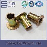 o zinco de 10X18mm chapeou o rebite de aço tubular cheio principal liso