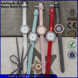 Orologi casuali delle signore di marchio di modo della vigilanza su ordinazione del quarzo (WY-090B)