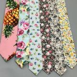 Popular artesanal impreso de flores de algodón fino Tie