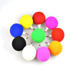 Mini haut-parleur sonore de 3.5mm d'éponge de musique colorée portative de bille pour l'ordinateur portatif MP4 de téléphone mobile de tablette