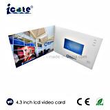De hete Verkopende Video brochure-VideoKaart van 4.3 Duim voor Luchthaven