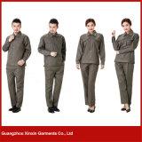 Longue usure de travail de chemise de broderie faite sur commande pour les femmes (W18)