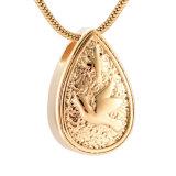 Halsband van de Urn van de Crematie van het Roestvrij staal van de Traan van de duif de Herdenkings voor de As van het Huisdier