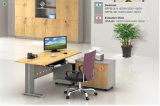 事務机デザインL字型管理の机のステンレス鋼のオフィス表