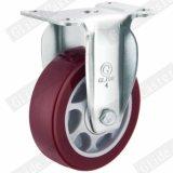 Do dever médio vermelho da roda do poliuretano de 4 polegadas rodízios industriais G3202