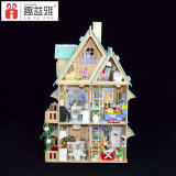 Миниатюрная дом куклы DIY с счастливым подарком семьи