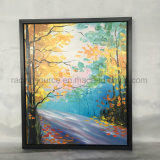 Knife Painting Landscape Canvas Painting Framed barrier kind
