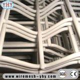 2X2 백색 PVC 입히는 정연한 구멍 유럽 용접 금속 철사 담 위원회