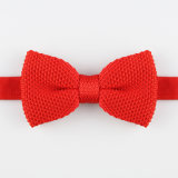 Pajarita roja del Knit