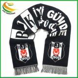 Bufanda de Jacquard tejidos acrílicos para el fútbol los aficionados al fútbol