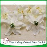 装飾のための多彩な絹の人工的なタイの蘭の頭状花