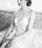 Alineadas 2018 de boda nupciales de marfil del cordón de la tarde del baile de fin de curso del vestido de bola