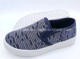 Тапка детей обувает обувь ботинок холстины Slip-on впрыски (ZL1017-14)