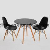 木の木製の足ワイヤー足のラウンジアーム椅子はプラスチックをつける