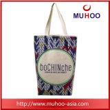 Tela di canapa della borsa del Tote del fiore/sacchetto acquisto alla moda del cotone per le signore