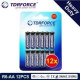 prix de gros de batterie de carbone de zinc d'usine de 1.5V Chine (R6-AA 16PCS)