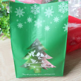 건빵 식사 사탕 크리스마스 파티 훈장 비닐 봉투를 위한 즐거운 성탄 Kraft 종이 봉지 과자 포장 부대