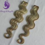 ピアノカラー3カラーボディ波状のVirignの毛のよこ糸(HW57)