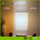 6000K/4000K/2700K de changement de couleur de lumière LED 6W E26 Ampoule de LED pour éclairage domestique
