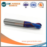 Solid 2 flautas de carboneto de nariz de bola Final Mill
