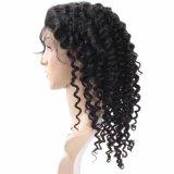 Peluca llena profunda del cordón del pelo humano de Remy de la onda de la alta calidad