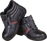Cuero de vaca Anti-Smashing Puntera de acero Zapatos de seguridad