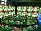 P10 im Freien farbenreicher LED zylinderförmiger Bildschirm