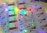 Cartões transparentes do holograma holográfico