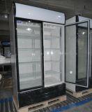 Congélateur vertical de boisson non alcoolique de réfrigérateur de boisson de double porte (LG-1400BF)