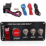 рычаг кнопка старта двигателя панели переключателя зажигания 12V СИД приспособленный для участвуя в гонке автомобиля