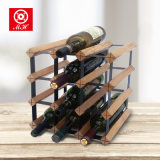 Cremalheira de indicador clássica Handmade do vinho da madeira 2017 e do metal da cremalheira do vinho de China