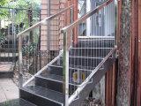 Fácil instalar el alambre de las escaleras que cerca el cable de la vertical con barandilla de la barandilla del acero inoxidable