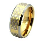 Орган высокого качества ювелирных изделий Gold покрытие лазерный вольфрама кольцо (TSTG003)