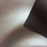 ソファーの家具のための非編まれたLycheeデザインPVCビニールの革