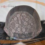 긴 까만 사람의 모발 가발 (PPG-l-05192)