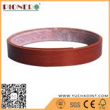 Borda de borda de madeira do PVC da grão para a borda da tabela