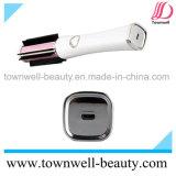 Cepillo de pelo recargable eléctrico de cerámica caliente sin cuerda del aire caliente del LED